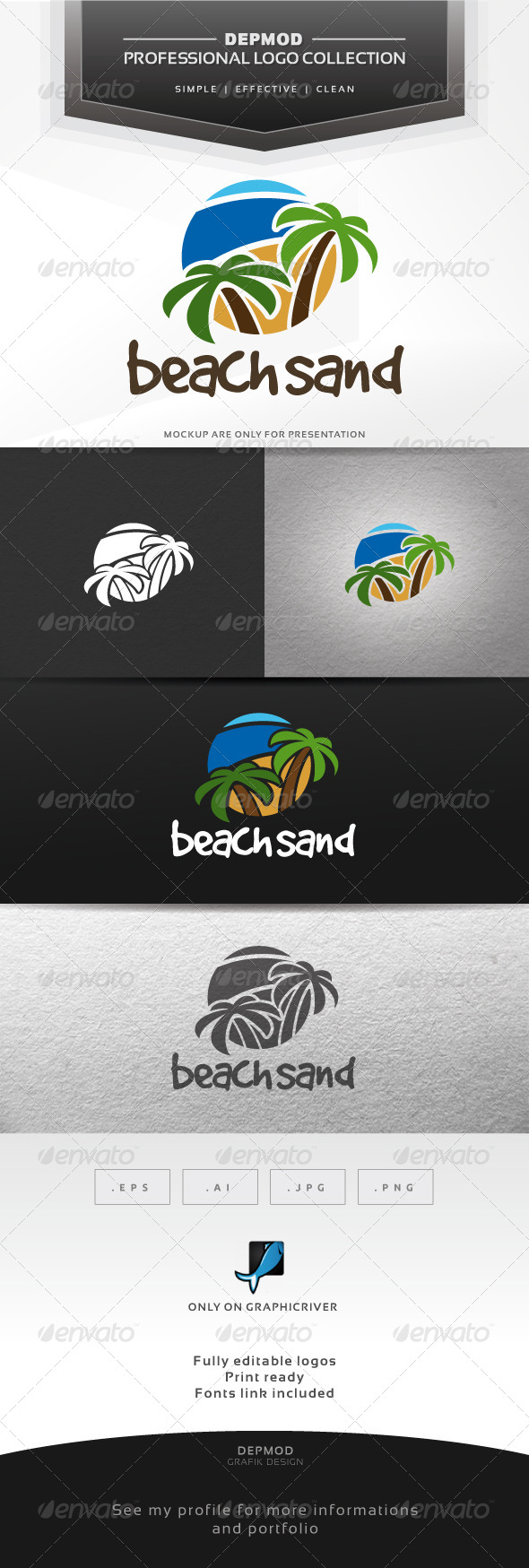 GraphicRiver Beach Sand Logo 7263562
