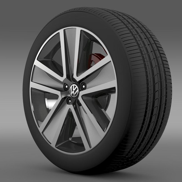 3DOcean VW CrossPolo 2011 wheel 7263573