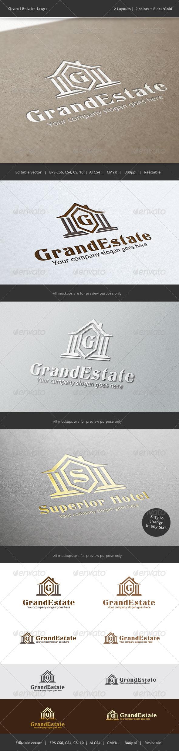 GraphicRiver Grand Estate Letter Logo 7263585