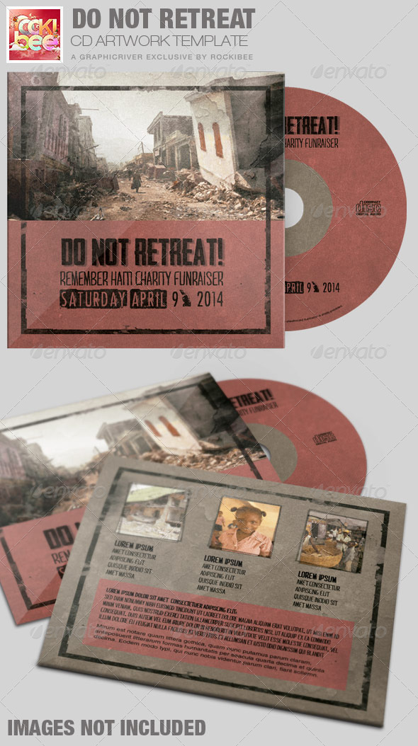 GraphicRiver Do Not Retreat Charity CD Artwork Template 7263605