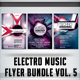 Electro Music Flyer Bundle Vol. 5 - GraphicRiver Item for Sale