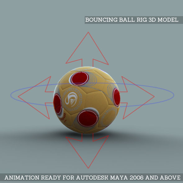 3DOcean Bouncing Ball Rig 3D Model 7263812