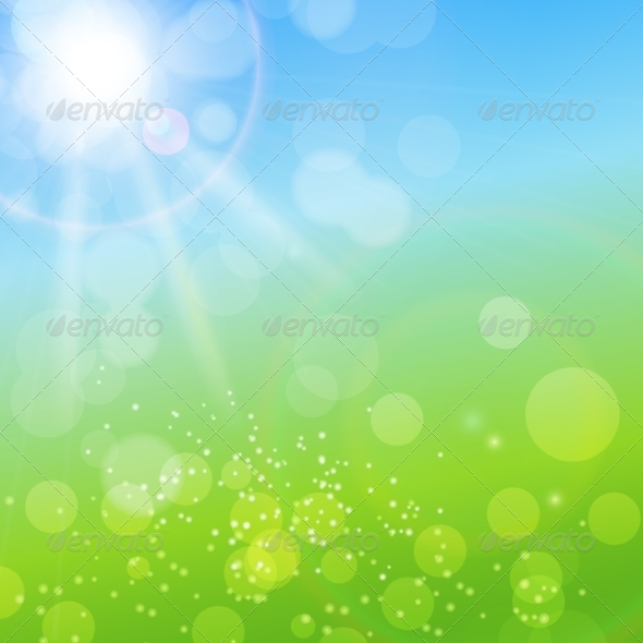GraphicRiver Summer Abstract Background with Grass 7263835