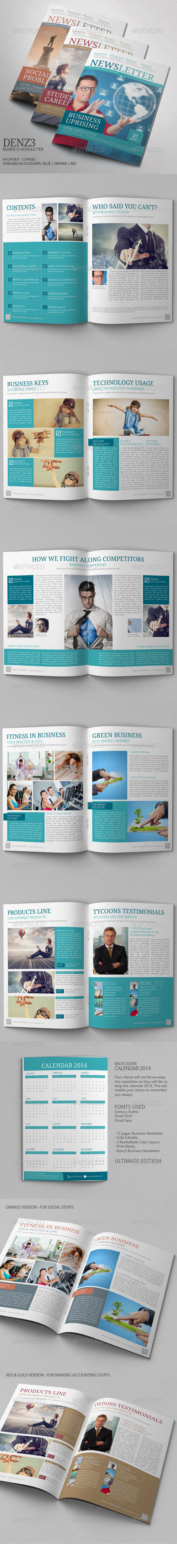 GraphicRiver Business Newsletter Vol VIII 7263842