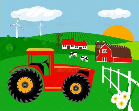 GraphicRiver Farm Illustration 7263843
