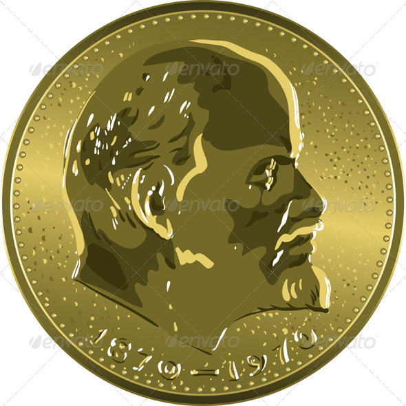 GraphicRiver Gold Coin Soviet Ruble with Lenin 7263847