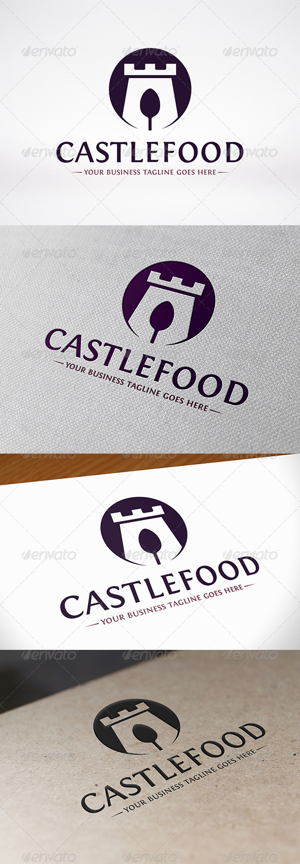 GraphicRiver Castle Food Logo Template 7263851