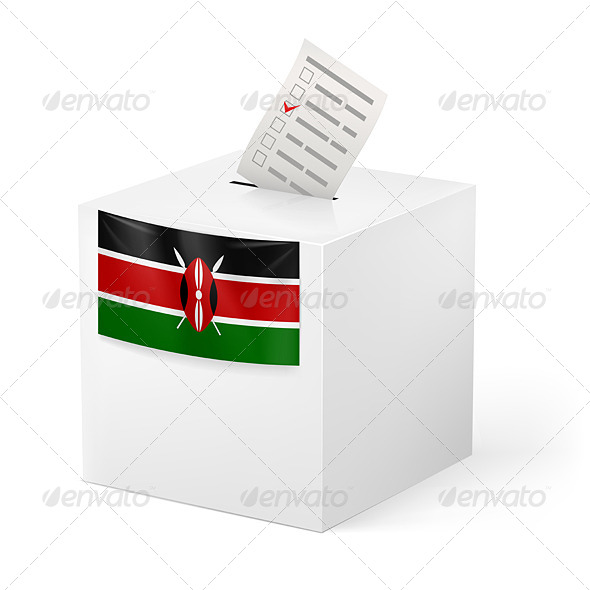 GraphicRiver Ballot Box with Voting Paper Kenya 7263969
