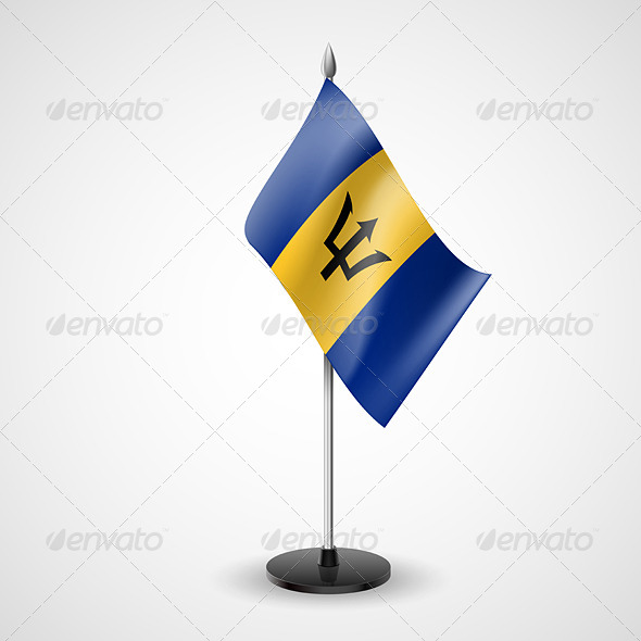 GraphicRiver Table Flag of Barbados 7264017