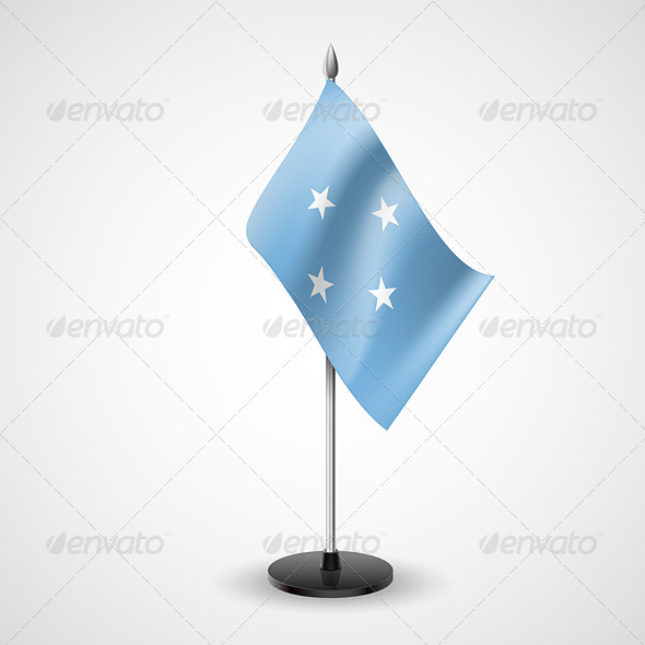 GraphicRiver Table Flag of Federated States of Micronesia 7264112