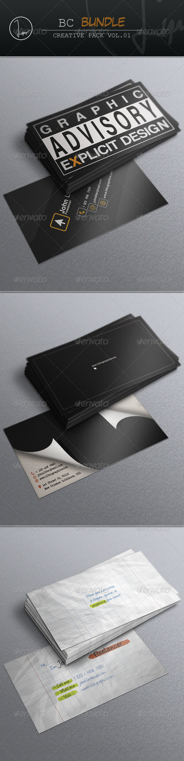 GraphicRiver Business Card Bundle Vol.01 7264345