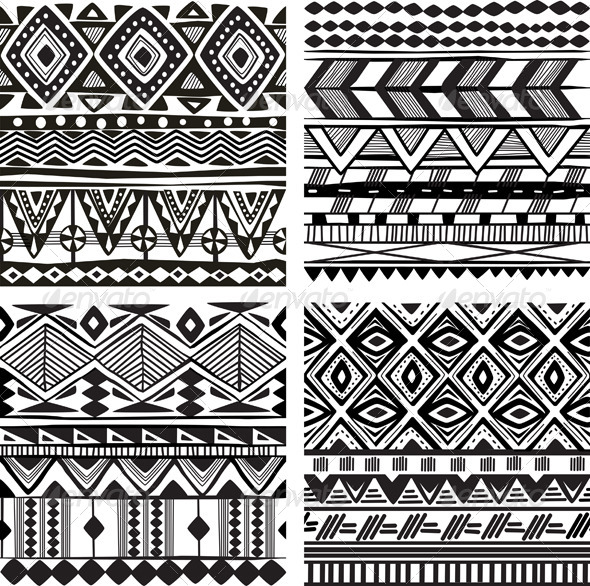 GraphicRiver Seamless Tribal Texture 7264380