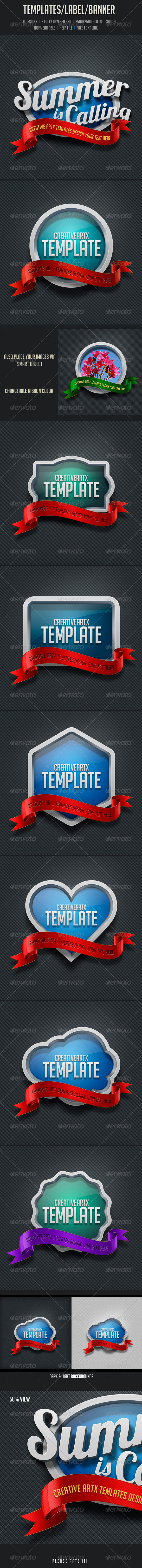 GraphicRiver Templates Label Banner 7264389