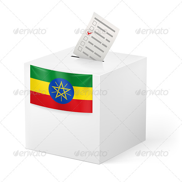 GraphicRiver Ballot Box with Voting Paper Ethiopia 7264391