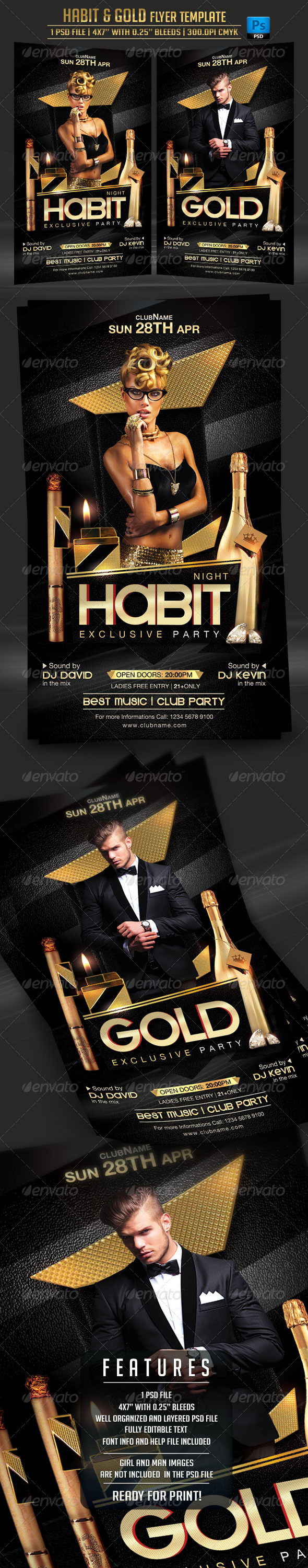 GraphicRiver Habit and Gold Flyer Template 7264517