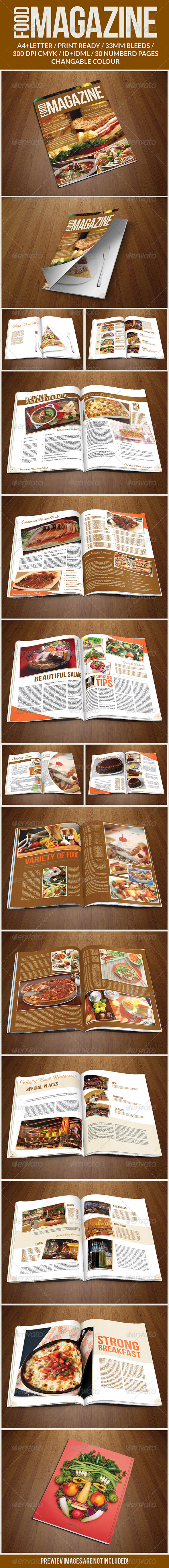 GraphicRiver Food Magazine Template 7247121