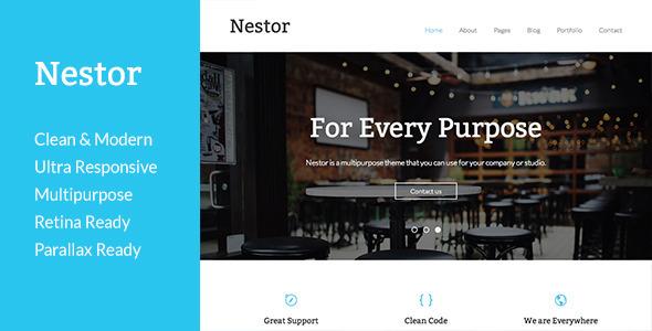 ThemeForest Nestor Responsive HTML5 Template 7222691