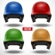 Set of Multicolor Baseball Helmets Front View - GraphicRiver Item for Sale