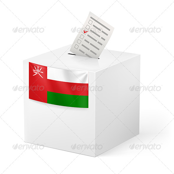 GraphicRiver Ballot Box with Voting Paper Oman 7264604