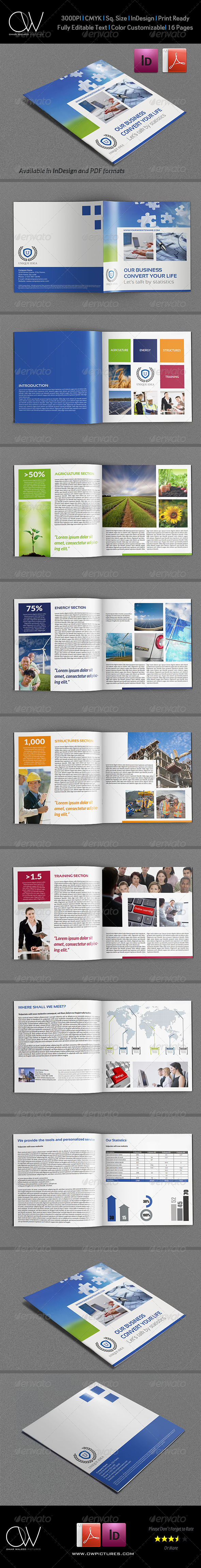 GraphicRiver Company Brochure Template Vol.32 16 Pages 7264632