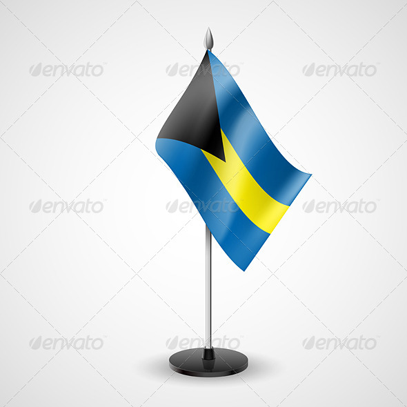 GraphicRiver Table Flag of Bahamas 7264709