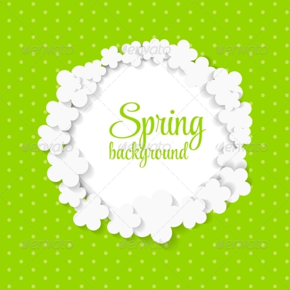 GraphicRiver Spring Background with Paper Flowers 7264710
