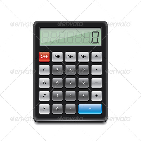 GraphicRiver Black Calculator 7264751