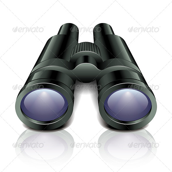 GraphicRiver Black Binoculars 7264775