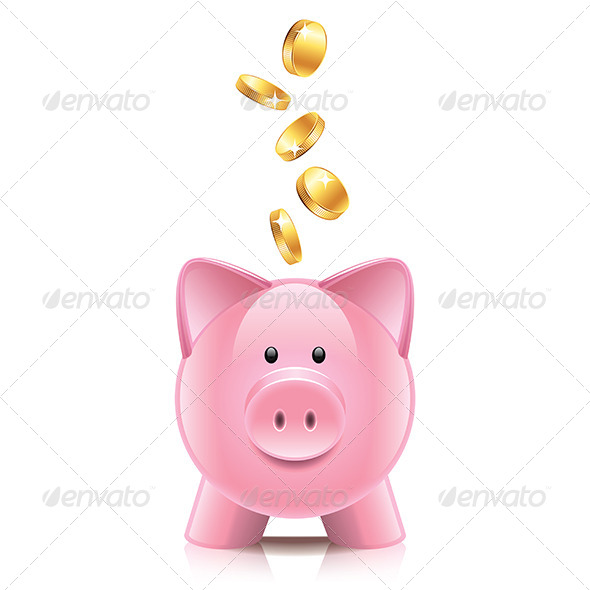 GraphicRiver Piggy Bank and Coins 7264810