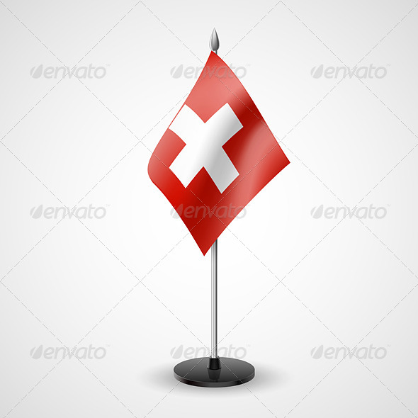 GraphicRiver Table Flag of Switzerland 7264831