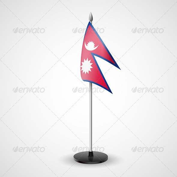 GraphicRiver Table Flag of Nepal 7264835
