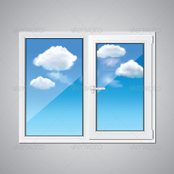 GraphicRiver Plastic Window and Blue Sky 7264839
