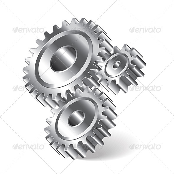 GraphicRiver Three Gear Wheels 7264842