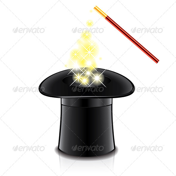 GraphicRiver Magic Hat and Wand 7264848