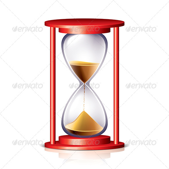 GraphicRiver Red Transparent Hourglass 7264863