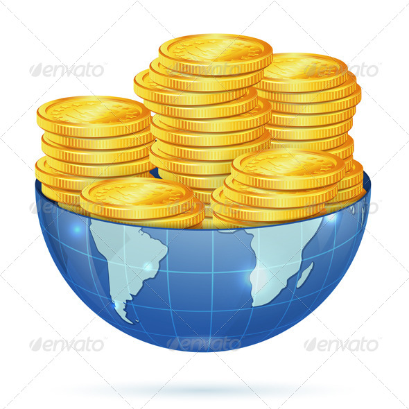 GraphicRiver Earth with Gold Coins 7264888