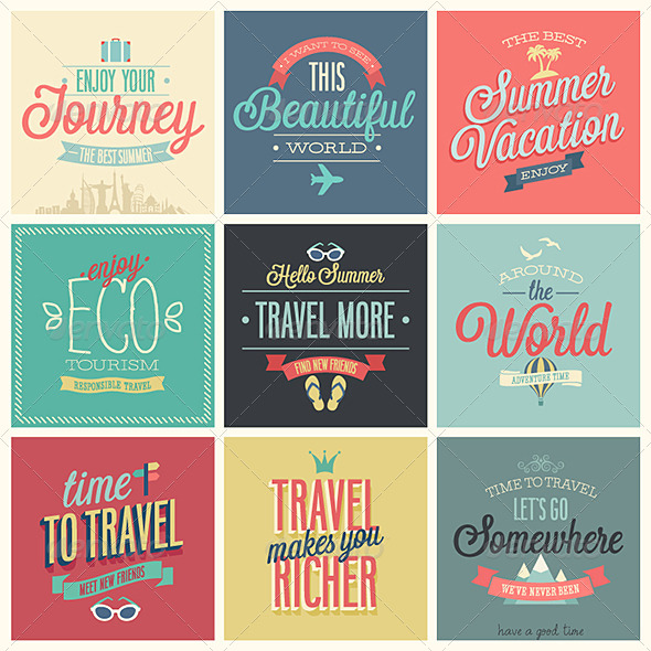 GraphicRiver Travel Set of Labels and Emblems 7264973