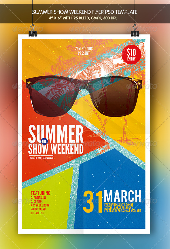 GraphicRiver Summer Show Flyer Bundle 7264988