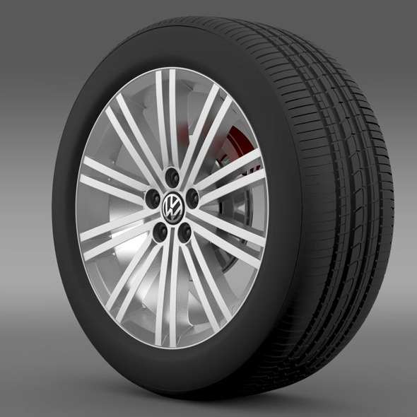 3DOcean VW Polo Blue GT 2012 wheel 7264990