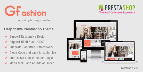 ThemeForest Gfashion Responsive Prestashop Theme 7227803