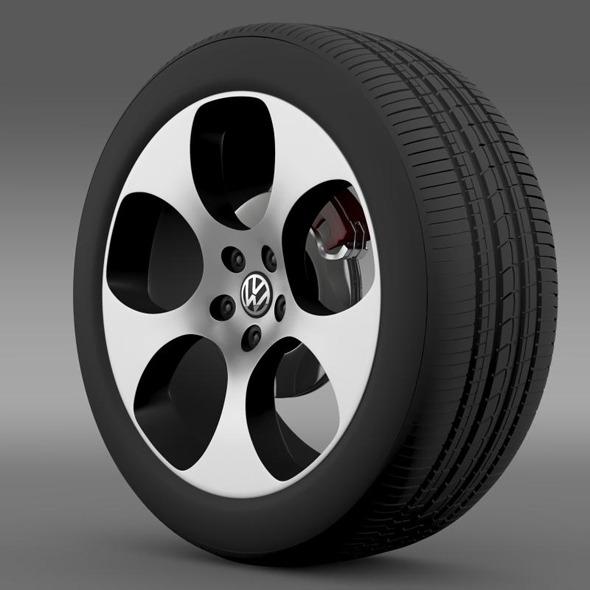 3DOcean VW Polo GTI 2011 wheel 7265068