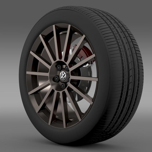 3DOcean VW Polo R WRC Street wheel 7265130