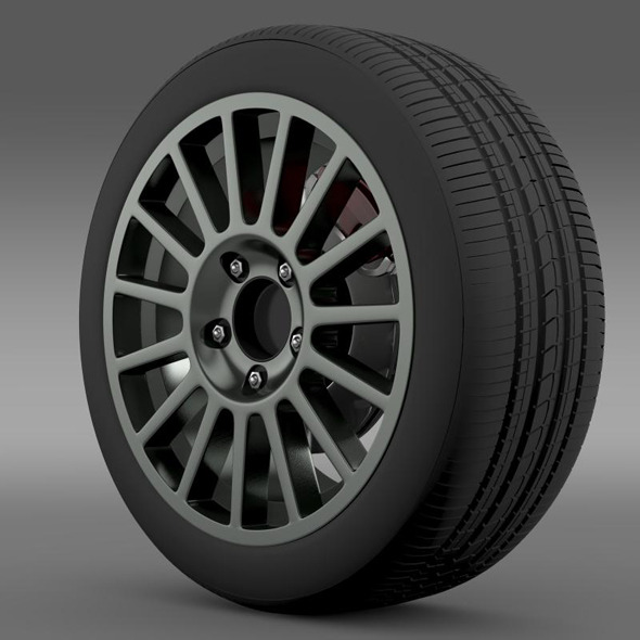 3DOcean VW Polo R WRC wheel 7265301