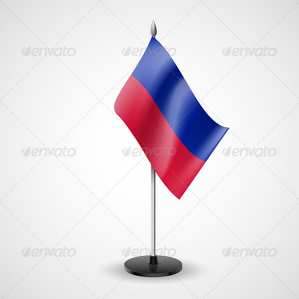 GraphicRiver Table Flag of Haiti 7265306