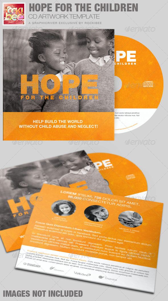 GraphicRiver Hope for the Children Charity CD Artwork Template 7265577