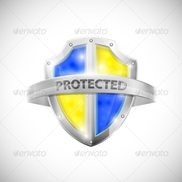 GraphicRiver Protection Icon with Glossy Shield 7265589