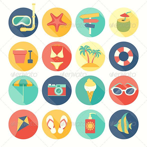 GraphicRiver Beach Icons Set 7265592