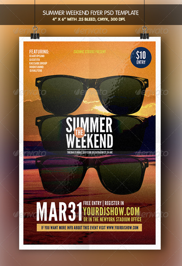 GraphicRiver Summer Weekend Flyer Template 7265625
