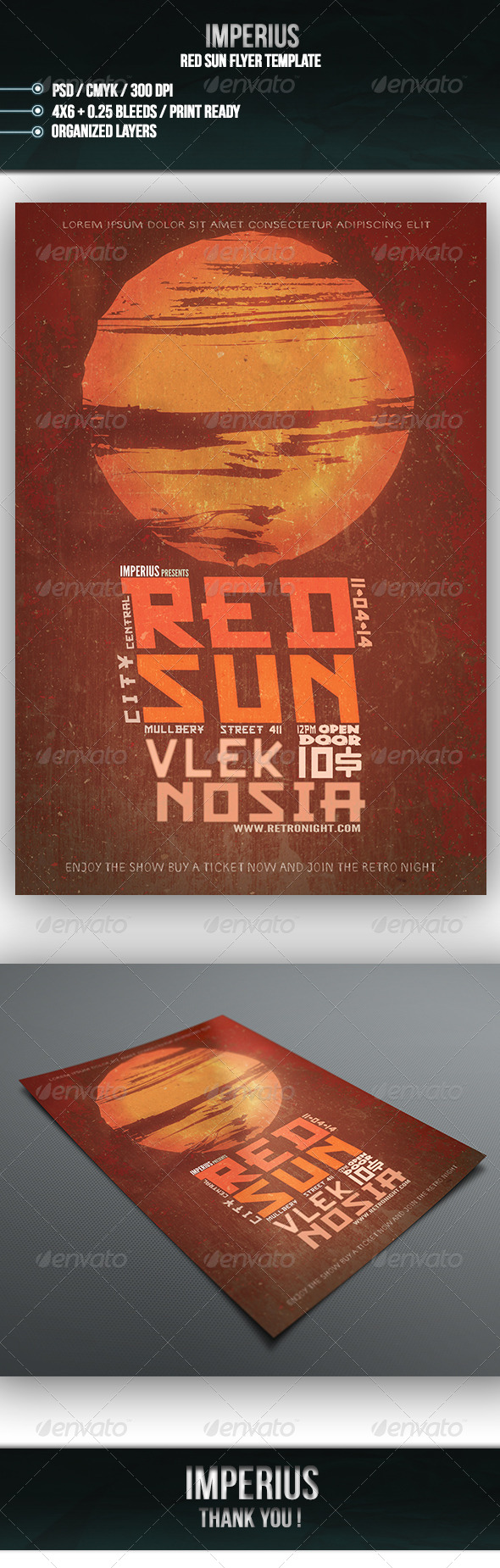 GraphicRiver Red Sun Flyer 7265663