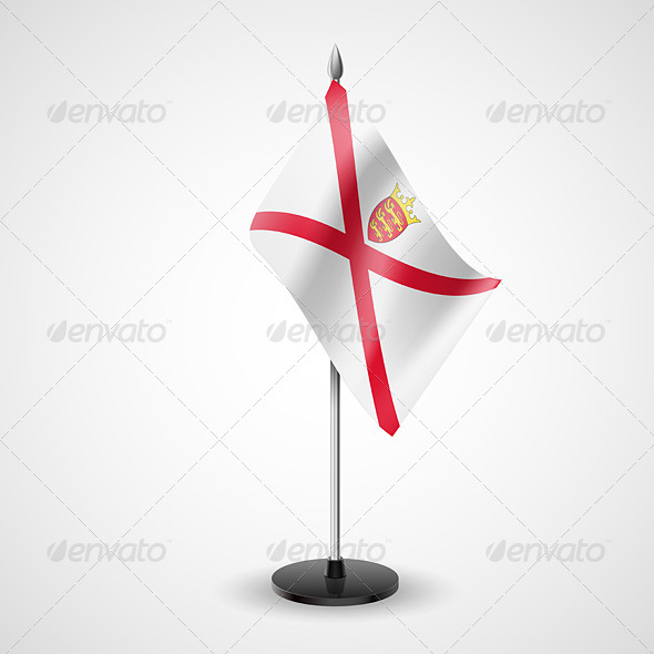 GraphicRiver Table Flag of Jersey 7265718
